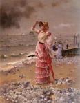 Alfred STEVENS – Femme Elégante Voyant Filer UnVapeur