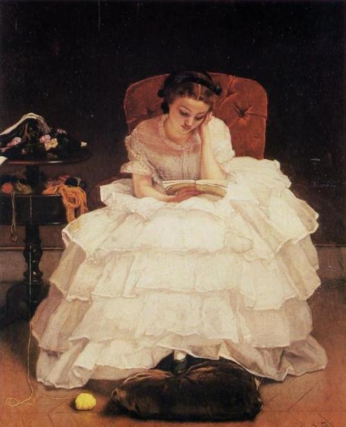 Alfred Stevens - Jeune Femme Lisant-1856