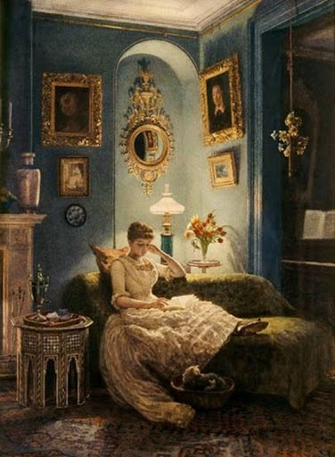 Edward John Poynter - An Evening at Home-1888