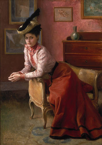 Julius Leblanc Stewart - Woman in an Interior