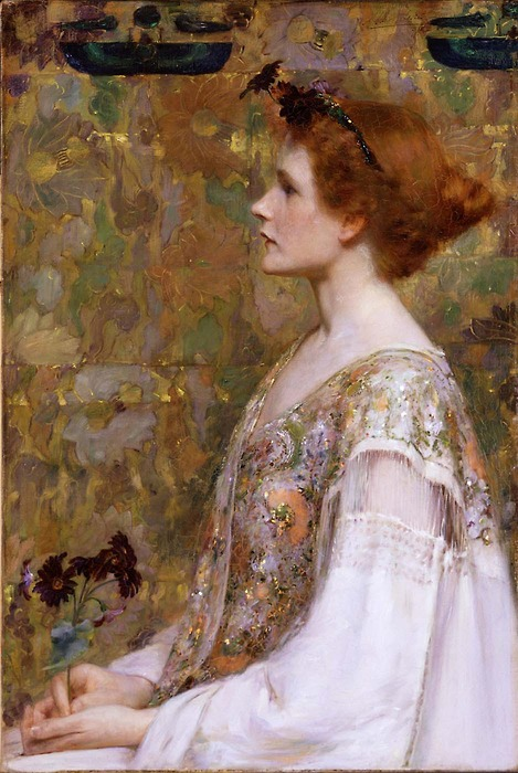Albert Herter - Woman With Red Hair 1894