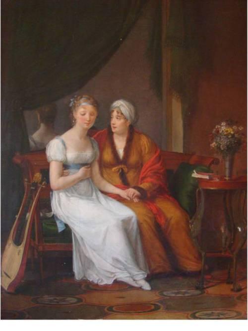 image087 Une mère recevant la  confidence de sa fille – Constance Charpentier – Salon de 1812
