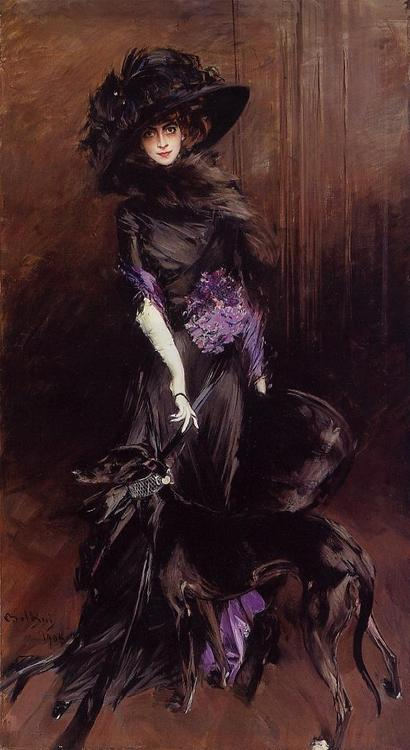 Giovanni Boldini - La Marchesa Luisa Casati With a Greyhound