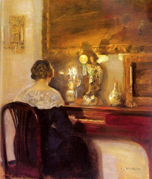 Carl Hessmert - A Lady Playing the Spinet