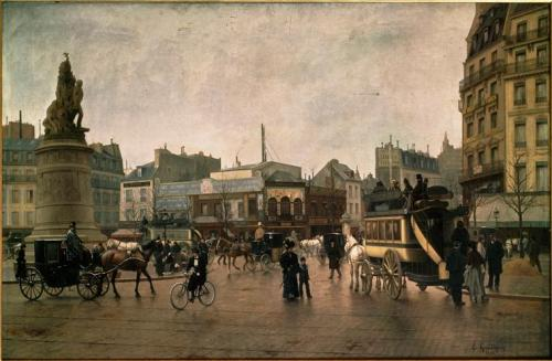 Edmond Georges Grandjean - La Place Clichy en 1896