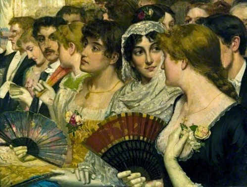William Holyoake - In The Front Row at the Opera 1875
