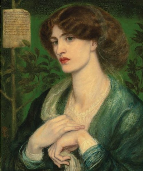 Dante Gabriel Rossetti - The Salutation of Béatrice 1869