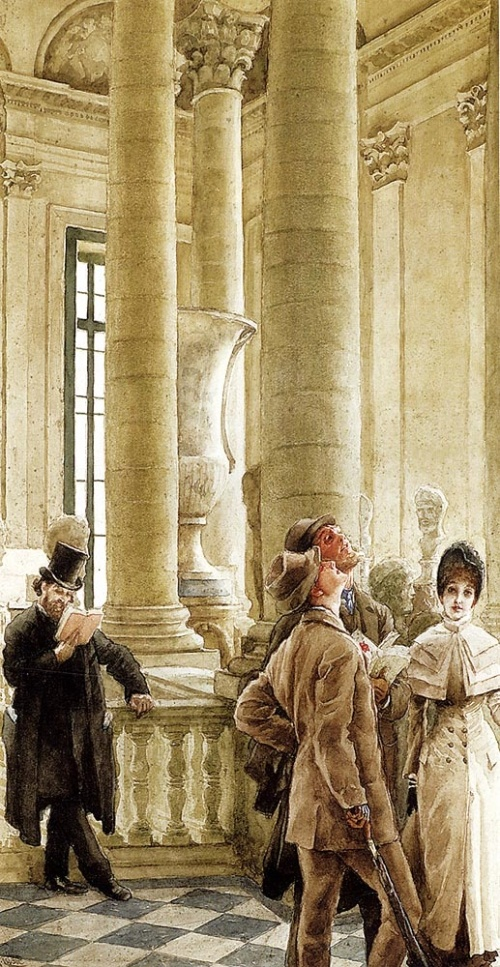 James Tissot - Au Louvre