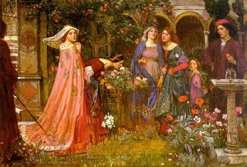 William John-Waterhouse - Le Jardin Enchanté