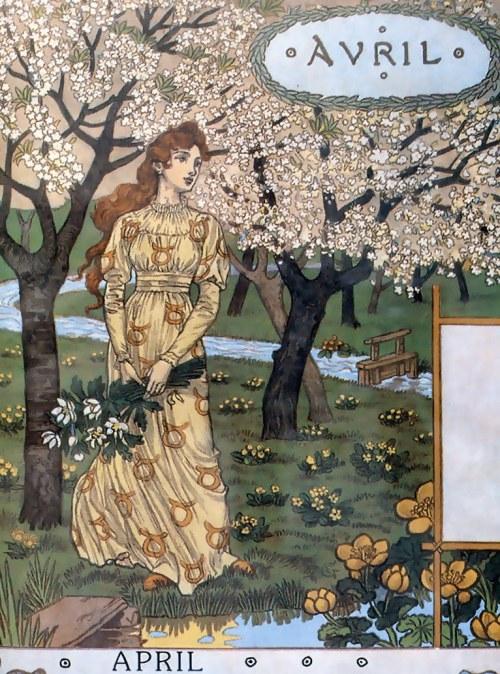 Eugène Grasset - Avril