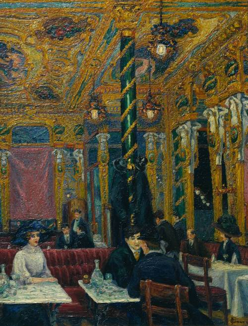 The Café Royal 1911 by Charles Ginner 1878-1952