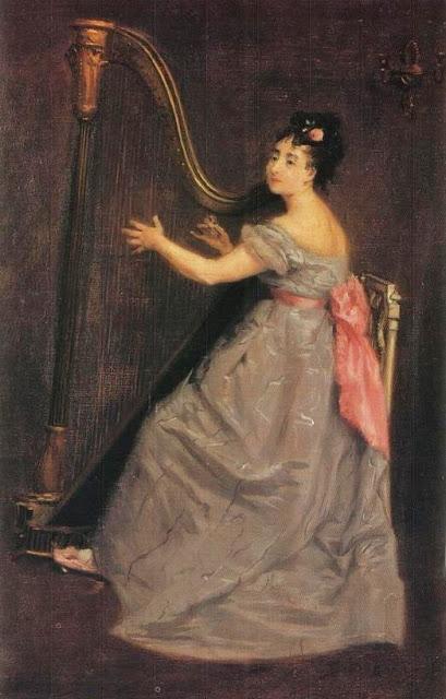 Eva Gonzalès - Joueuse de Harpe