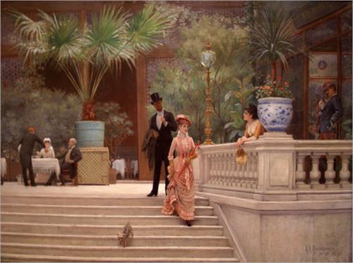 Abraham A. Anderson - The Boulevard Café 1889
