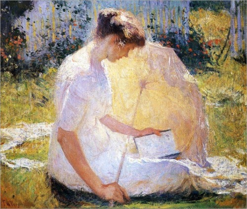 Frank W. Benson - The Reader 1910